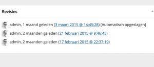 Wordpress revisies verwijderen